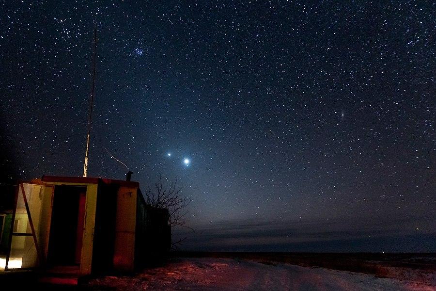 Звездная ночъ на Уточи.
