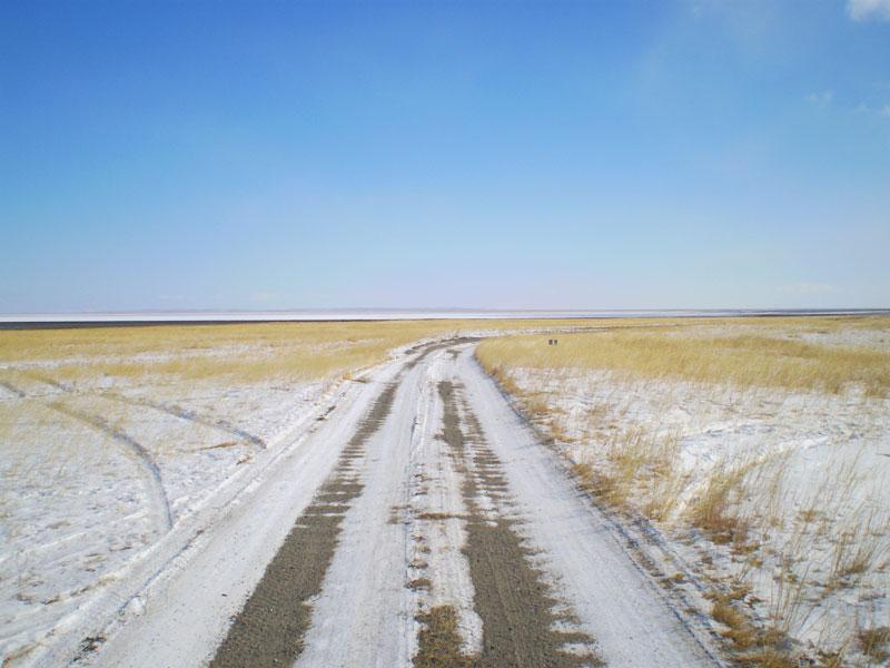 Беспощадная степная дорога.