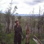 Проверка связи. На фоне — озера Иван и Арахлей