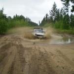 Машина почему-то вся стала грязная и мокрая