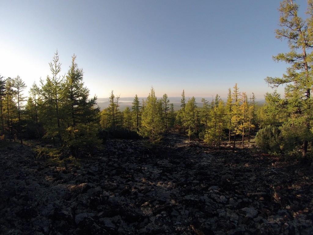 Утренняя долина Читинки со склона Малого Саранакана
