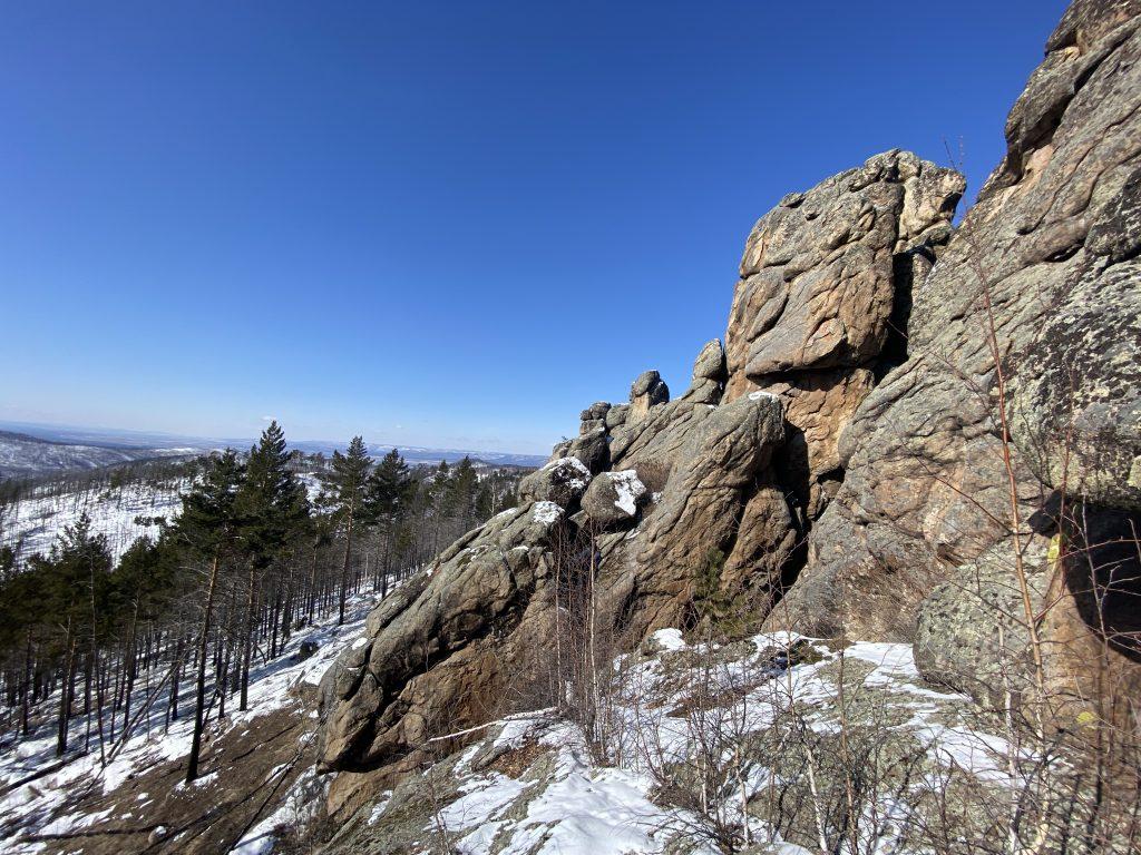 Западный останец на вершине